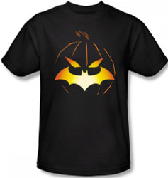 Batman T-Shirt - Halloween Jack O' Bat Logo Image 2