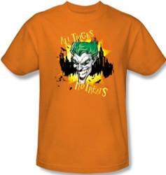 Image for Joker T-Shirt - Halloween All Tricks, No Treats