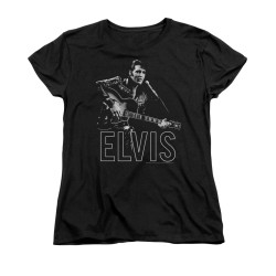 Image for Elvis Woman's T-Shirt - Guitar in Hand