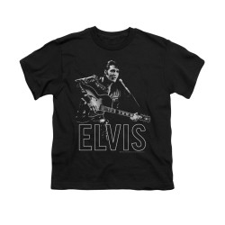 Image for Elvis Youth T-Shirt - Guitar in Hand