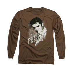 Image for Elvis Long Sleeve T-Shirt - Rugged Elvis