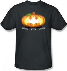 Image Closeup for Batman T-Shirt - Halloween Bat Pumpkin Logo