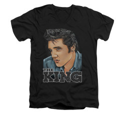 Image for Elvis V-Neck T-Shirt Graphic King