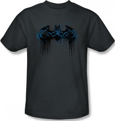 Image Closeup for Batman T-Shirt - Run Away Logo