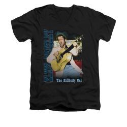 Image for Elvis V-Neck T-Shirt Memphis Cat