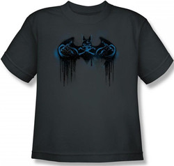 Image for Batman Youth T-Shirt - Run Away Logo
