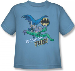 Image for Batman Kids T-Shirt - Riddler Riddle Me This