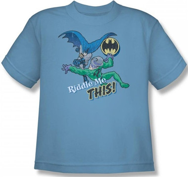 Image for Batman Youth T-Shirt - Riddler Riddle Me This