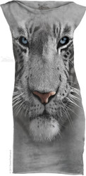 Image for The Mountain Girls Mini Dress - White Tiger Face