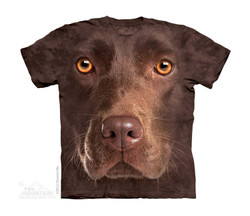 Image for The Mountain Youth T-Shirt - Chocolate Lab Face