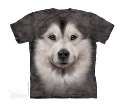 Image for The Mountain Youth T-Shirt - Alaskan Malamute Face