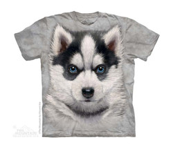 Image for The Mountain Youth T-Shirt - Siberian Husky Puppy