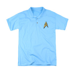 Image for Star Trek Polo Shirt - Science Logo Embroidered Patch