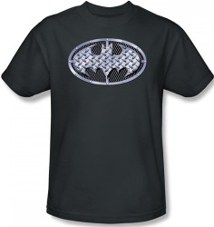 Image Closeup for Batman T-Shirt - Steel Mesh Logo
