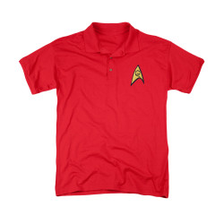 Image for Star Trek Polo Shirt - Engineering Logo Embroidered Patch