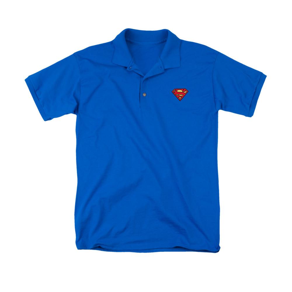 6c7178d264e6 Superman Polo Shirt - Logo Emboridered Patch - NerdKungFu
