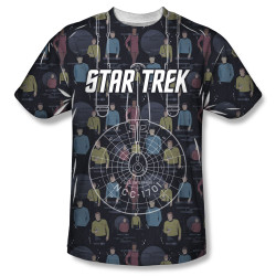 Image for Star Trek Sublimated T-Shirt - Enterprise Crew 100% Polyester