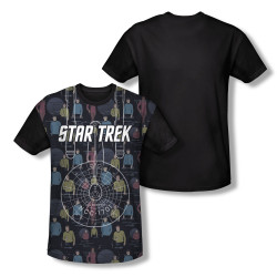 Image for Star Trek Sublimated Youth T-Shirt - Enterprise Crew