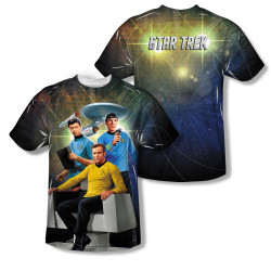 Image Closeup for Star Trek Sublimated Youth T-Shirt - Kirk Spock McCoy