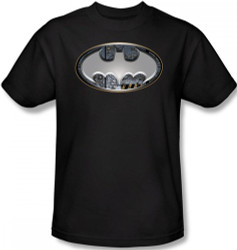 Image Closeup for Batman T-Shirt - Steel Wall Shield Logo