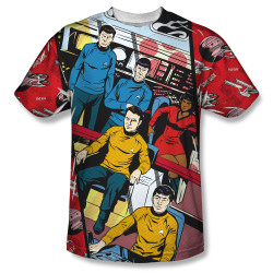Image for Star Trek Sublimated T-Shirt - Long Panel 100% Polyester