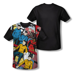 Image for Star Trek Sublimated Youth T-Shirt - Long Panel