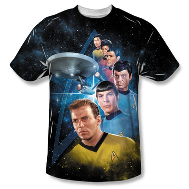 Image for Star Trek Sublimated T-Shirt - Among the Stars 100% Polyester