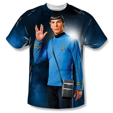 Image for Star Trek Sublimated T-Shirt - Live Long 100% Polyester
