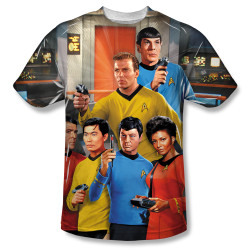 Image for Star Trek Sublimated T-Shirt - Bridge 100% Polyester