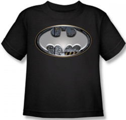 Image for Batman Steel Wall Shield Logo Toddler T-Shirt