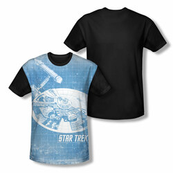 Image for Star Trek Sublimated Youth T-Shirt - Ships Blueprint