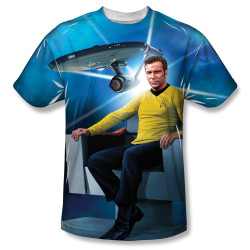 Image for Star Trek Sublimated T-Shirt - Kirk's Ship 100% Polyester