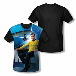 Image for Star Trek Sublimated Youth T-Shirt - Kirk's Ship