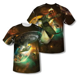 Image for Star Trek Sublimated Youth T-Shirt - Ship Battle