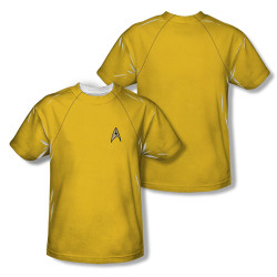 Image Closeup for Star Trek Sublimated T-Shirt - TOS Command Uniform