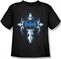 Image for Batman Gothic Steel Logo Toddler T-Shirt