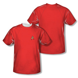 Image Closeup for Star Trek Sublimated T-Shirt - TOS Engineering Uniform