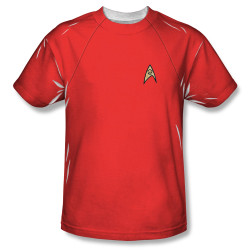 Image for Star Trek Sublimated Youth T-Shirt - TOS Engineering Uniform 100% Polyester