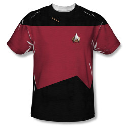 Image for Star Trek Sublimated Youth T-Shirt - TNG Command Uniform 100% Polyester