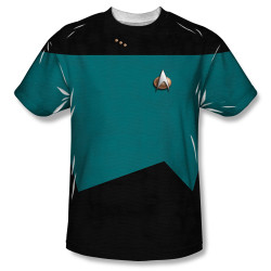 Image for Star Trek Sublimated Youth T-Shirt - TNG Science Uniform 100% Polyester