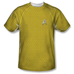 Image for Star Trek Sublimated Youth T-Shirt - New Movie Command Uniform 100% Polyester