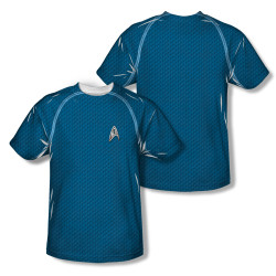 Image Closeup for Star Trek Sublimated T-Shirt - New Movie Science Uniform