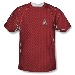 Image for Star Trek Sublimated Youth T-Shirt - New Movie Engineering Uniform 100% Polyester