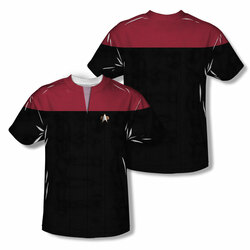 Image Closeup for Star Trek Sublimated T-Shirt - Voyager Command Uniform