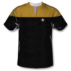 Image for Star Trek Sublimated Youth T-Shirt - Voyager Engineering Uniform 100% Polyester