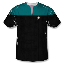 Image for Star Trek Sublimated Youth T-Shirt - Voyager Science Uniform 100% Polyester