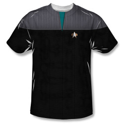 Image for Star Trek Sublimated Youth T-Shirt - TNG Movie Science Uniform 100% Polyester