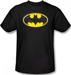 Image Closeup for Batman T-Shirt - Bats in Logo