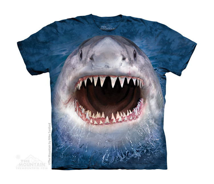 d2f0f86a8d7ef4 The Mountain Youth T-Shirt - Wicked Nasty Shark. Loading zoom