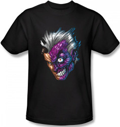 Image Closeup for Two Face T-Shirt - Just Face